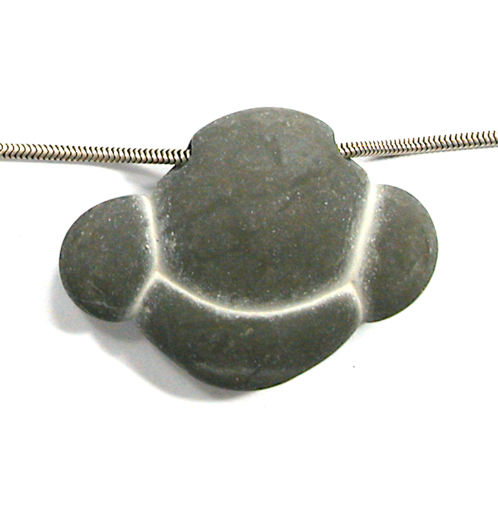 DVH Fairy Stone Concretion Bead Pendant Goddess Rock Quebec 37x50x12 (3101)