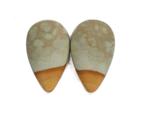 DVH Oregon Picture Jasper Cabochon Matched Pair Cabs Matte 26x15x5mm (1996) - DVHdesigns