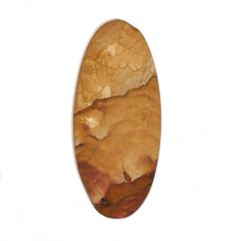DVH Oregon Rocky Butte Picture Jasper Matte Cabochon 57x25x5mm (1886) - DVHdesigns
