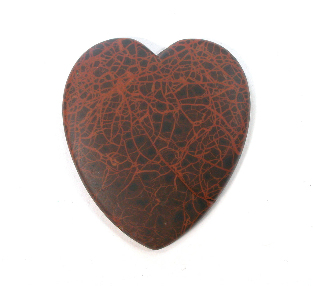 DVH Oregon Spiderman Jasper Heart Cabochon Matte Cab 51x46x5 (2680)