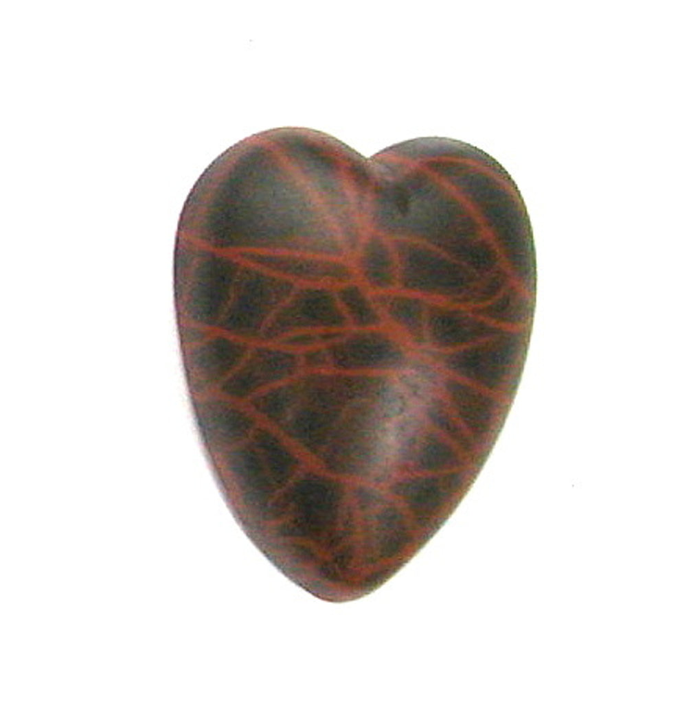 DVH Oregon Spiderman Jasper Heart Cabochon Matte Cab 29x26x9 (2771)