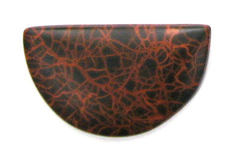 DVH Oregon Spiderman Jasper Cabochon Matte Freeform Cab 48x29x6 (2772)