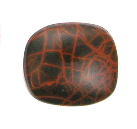DVH Oregon Spiderman Jasper Cabochon Matte Freeform Cab 28x24x7 (2774)