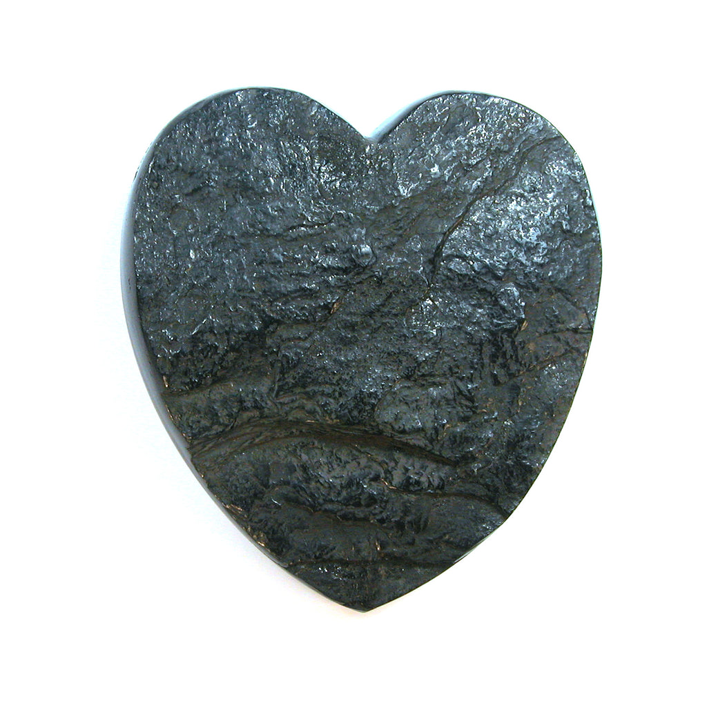 DVH 2.8oz Lignite Coal Altar Heart Meditation on Climate Change 79x74x18mm (1982) - DVHdesigns