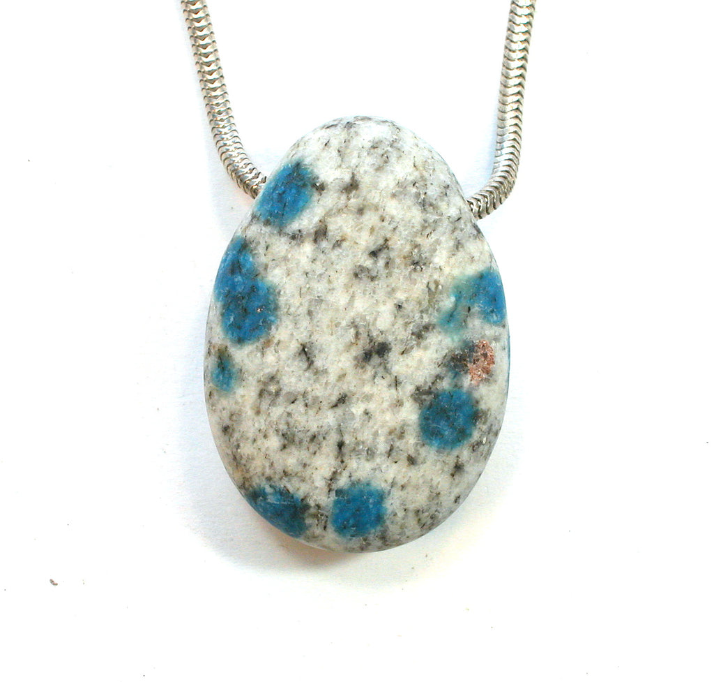"DVH K2 Blue ""Jasper"" Azurite in Granite Custom Pendant 34x24x14mm (1741) - DVHdesigns"