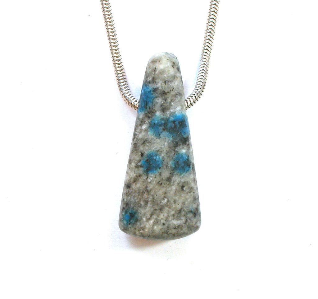 "DVH K2 Blue ""Jasper"" Azurite in Granite Custom Pendant 37x16x13mm (1745) - DVHdesigns"