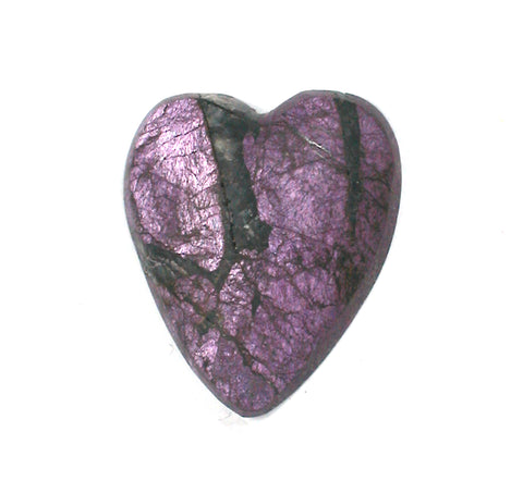DVH Purpurite Cabochon Namibia Purple Heart Cab Iridescent 22x19x5 (3171)
