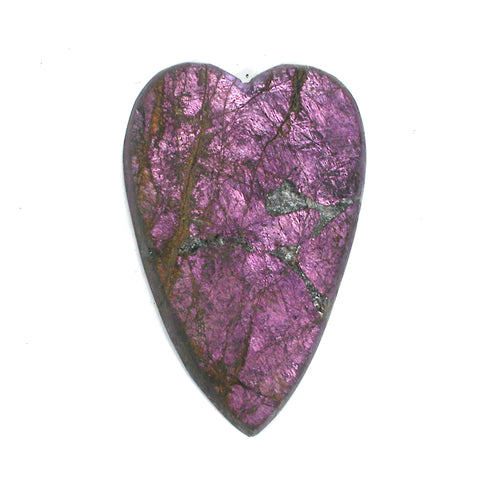 DVH Purpurite Cabochon Namibia Purple Heart Cab Iridescent 42x28x5 (3172)