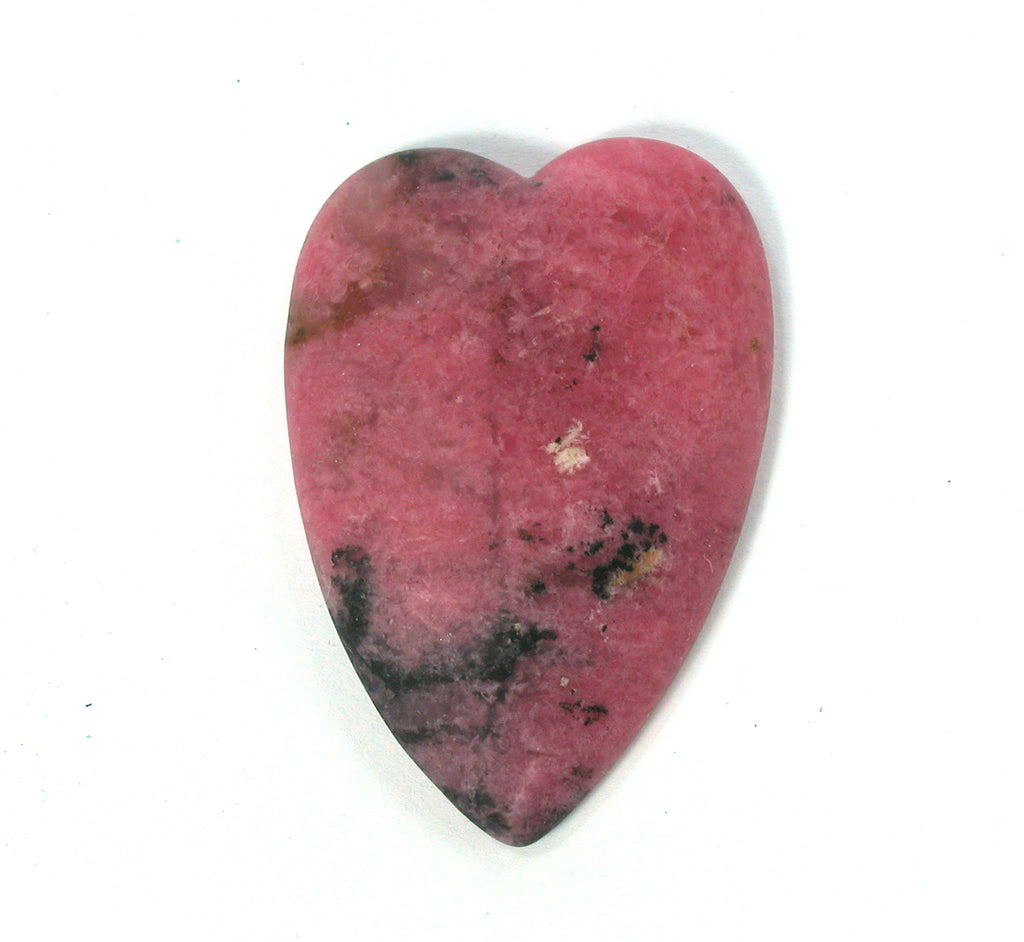 DVH Matte Rhodonite Broken Healed Heart Cabochon 45x30x7 Cab (2565) - DVHdesigns