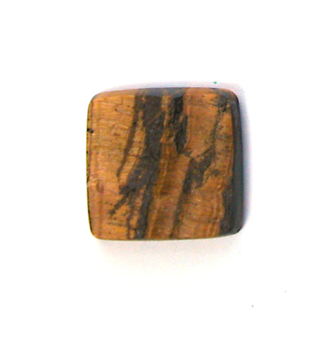 DVH Natural Surface Tigereye Cabochon 24x24x5mm Tigers Eye (2507) - DVHdesigns