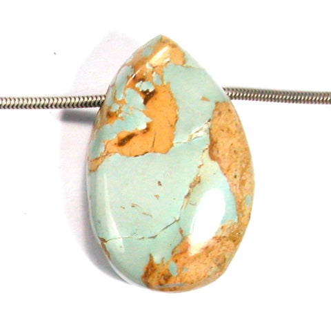 DVH Persian Turquoise Bead Pendant Natural 35x23x14 (3233)
