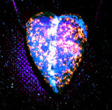 DVH Yooperlite Heart Bead Pendant Fluorescent Wishing Stone Michigan 38x29x15 (3081)