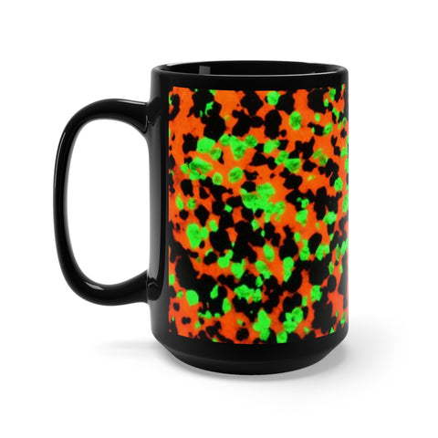 Fluorescent Calcite Willemite Print Black Mug 15oz! Franklin, New Jersey Rocks! - DVHdesigns