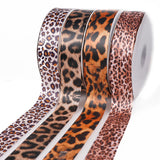 10Yards 10/15/25/40mm Leopard Print Printed Polyester Ribbons Transfer Printed Grosgrain Clothing DIY Handmade Materials - DVHdesigns