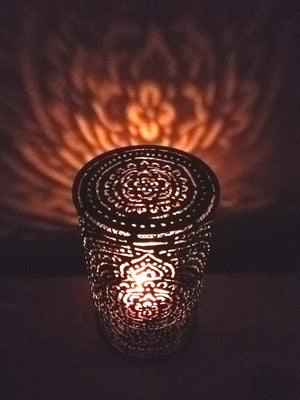 Candle Cover Mehndi Henna Pattern