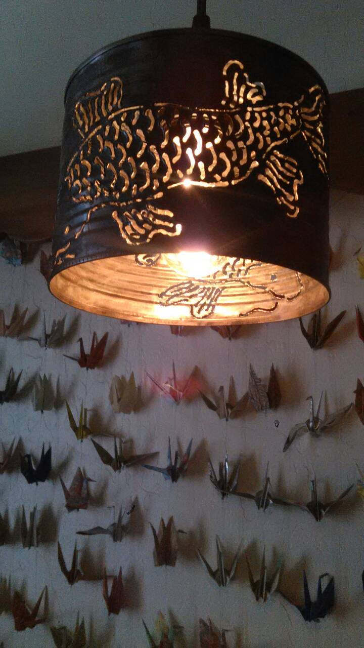 Koi Fish Pendant Light