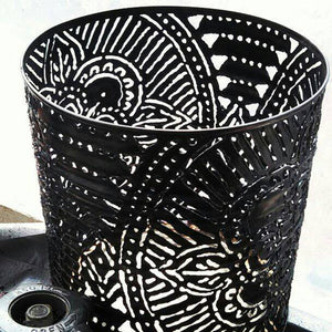 Mandala Pattern Luminary Candle Holder