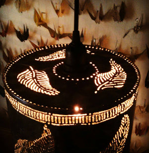 Large Feather Shadow Lamp Pendant
