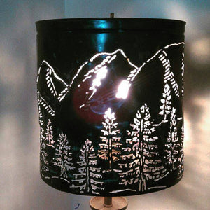 Mountain Landscape Pendant Light