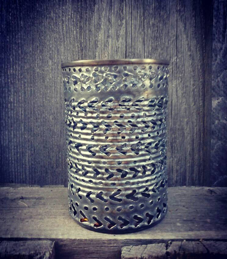 Straight Arrow Pattern Luminary Candle Holder