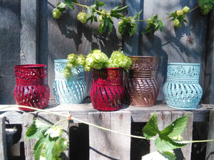 Fern Pattern Set of 3 Luminary Candle Holders / Centerpiece / Gift Set