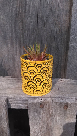 Tiny Succulent Plant Pots / Tealight Luminary Candle Holder