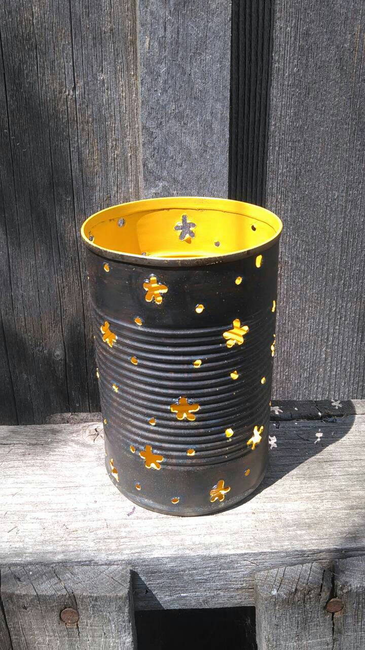 Starry Pattern Luminary Candle Holder