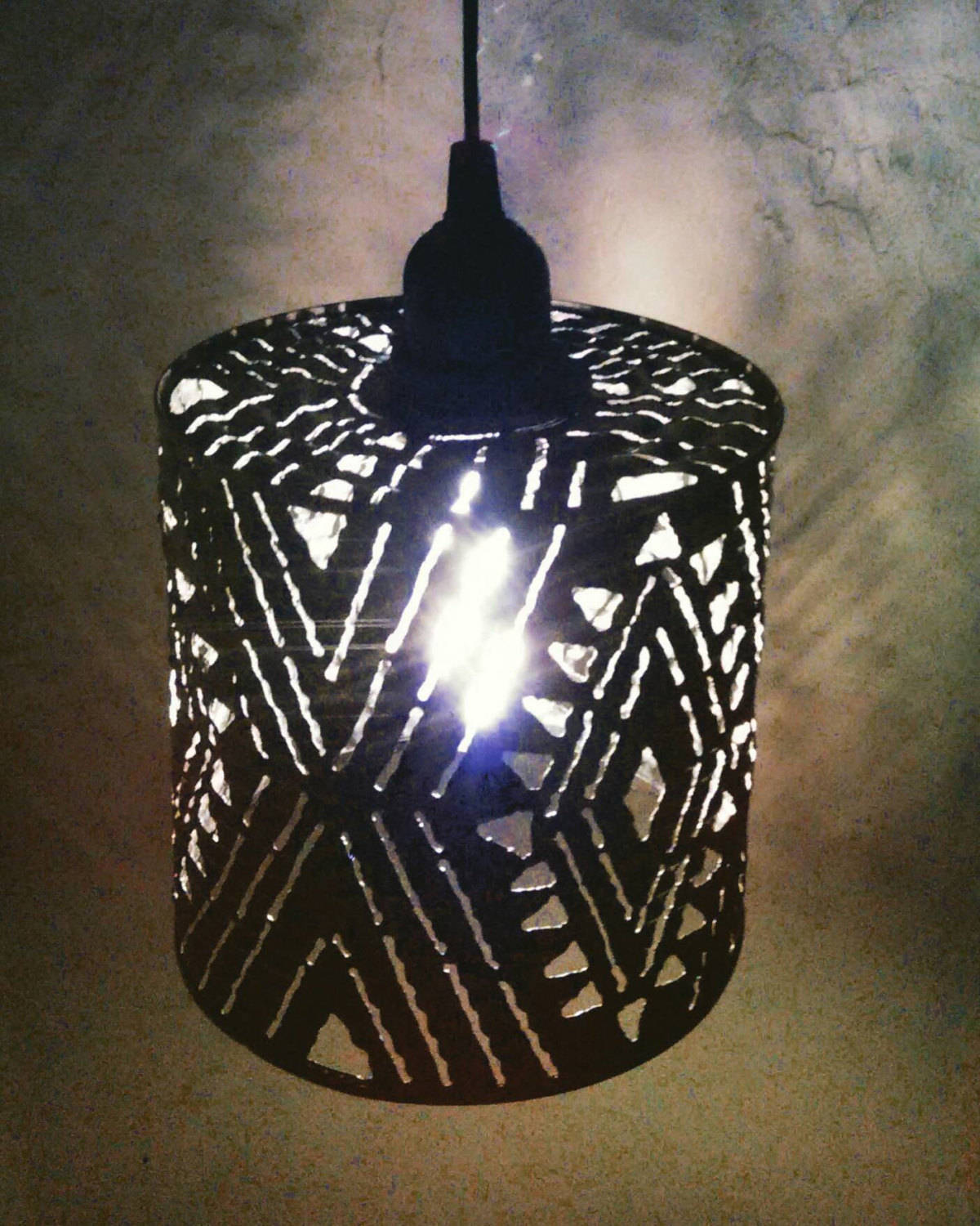 African Pattern Shadow Lamp