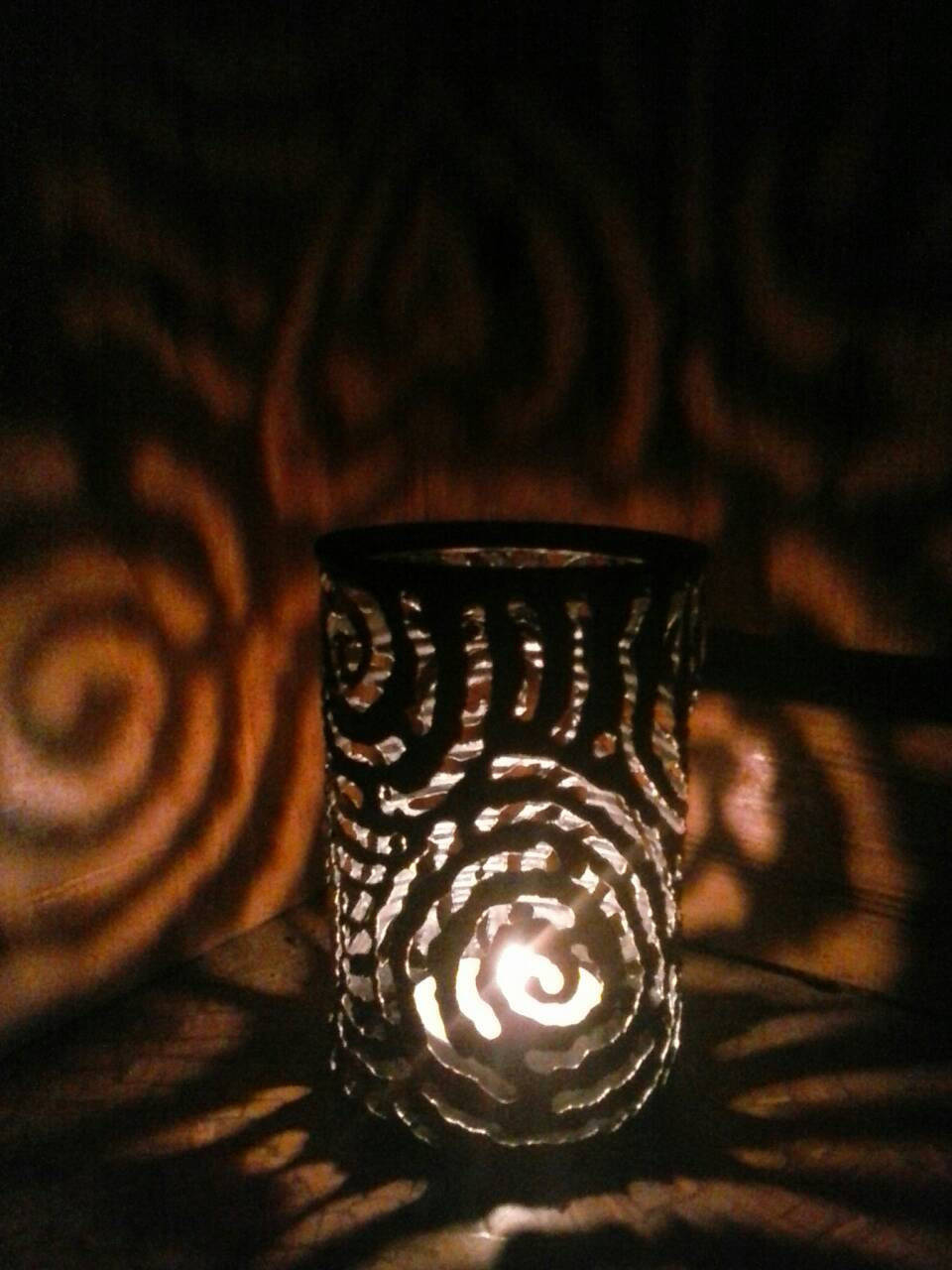 Spiral Pattern Luminary Candle Holder
