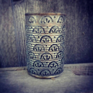 Straight Scallop Pattern Luminary Candle Holder