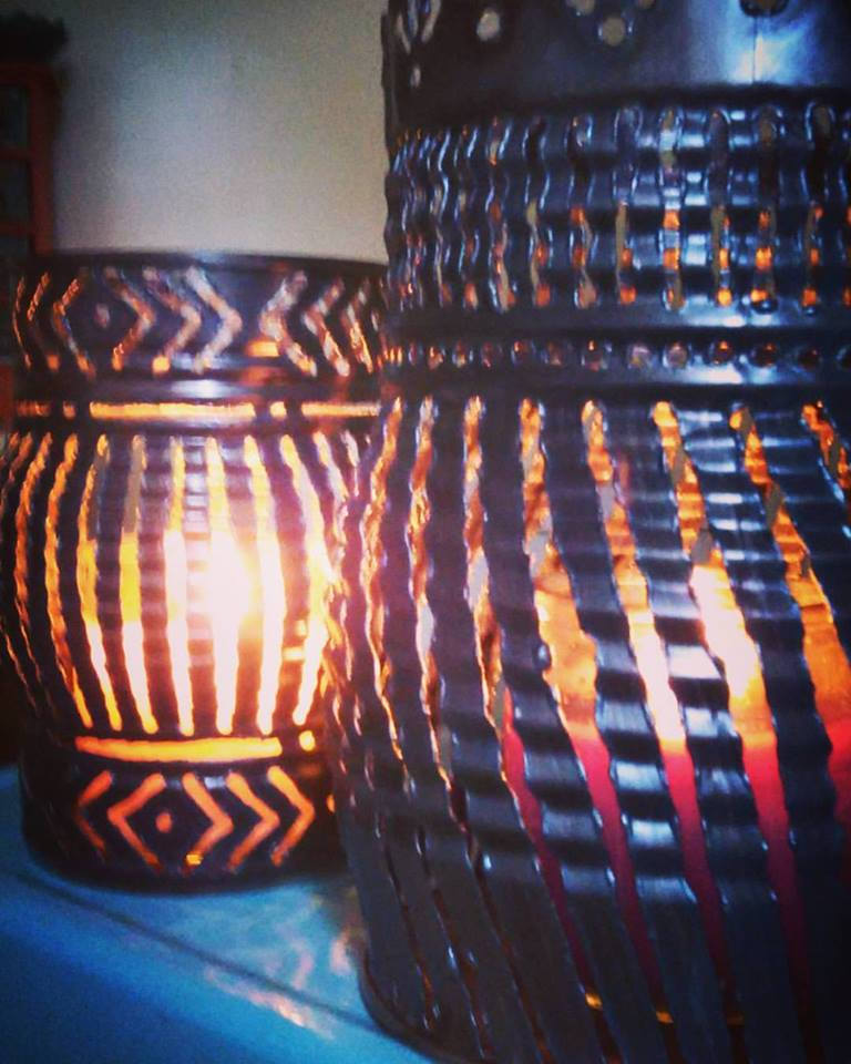 Geometric Pattern Luminary Candle Holder