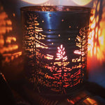 Pine Tree Woodland Luminary Candle Holder