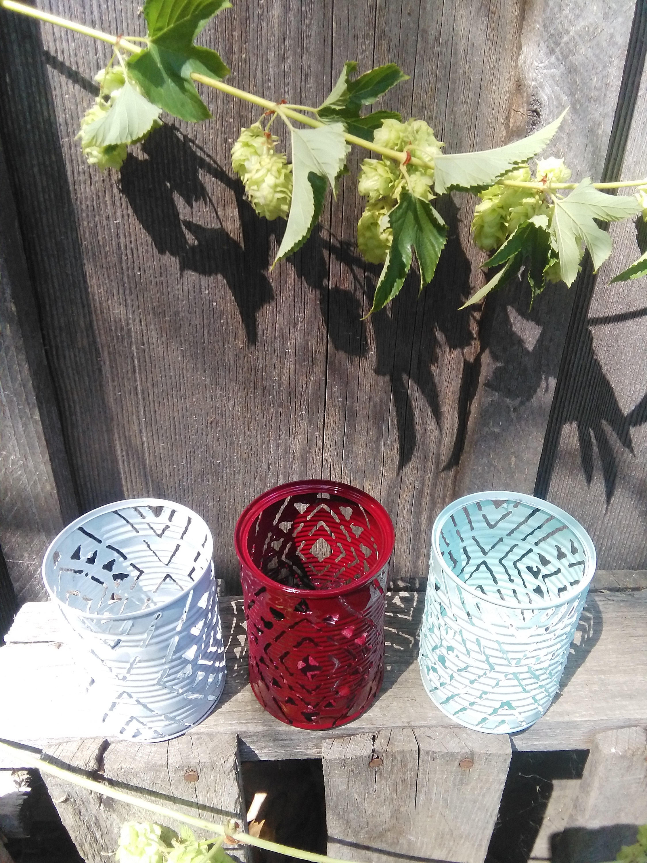 African Pattern Luminary Candle Holder