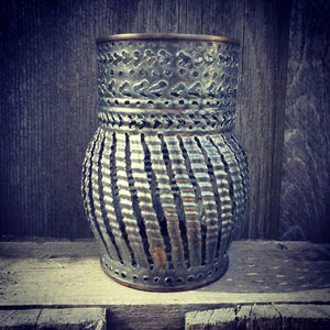 Round Arrow Pattern Luminary Candle Holder