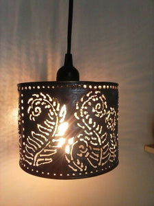 Small Fern Pattern Shadow Lamp