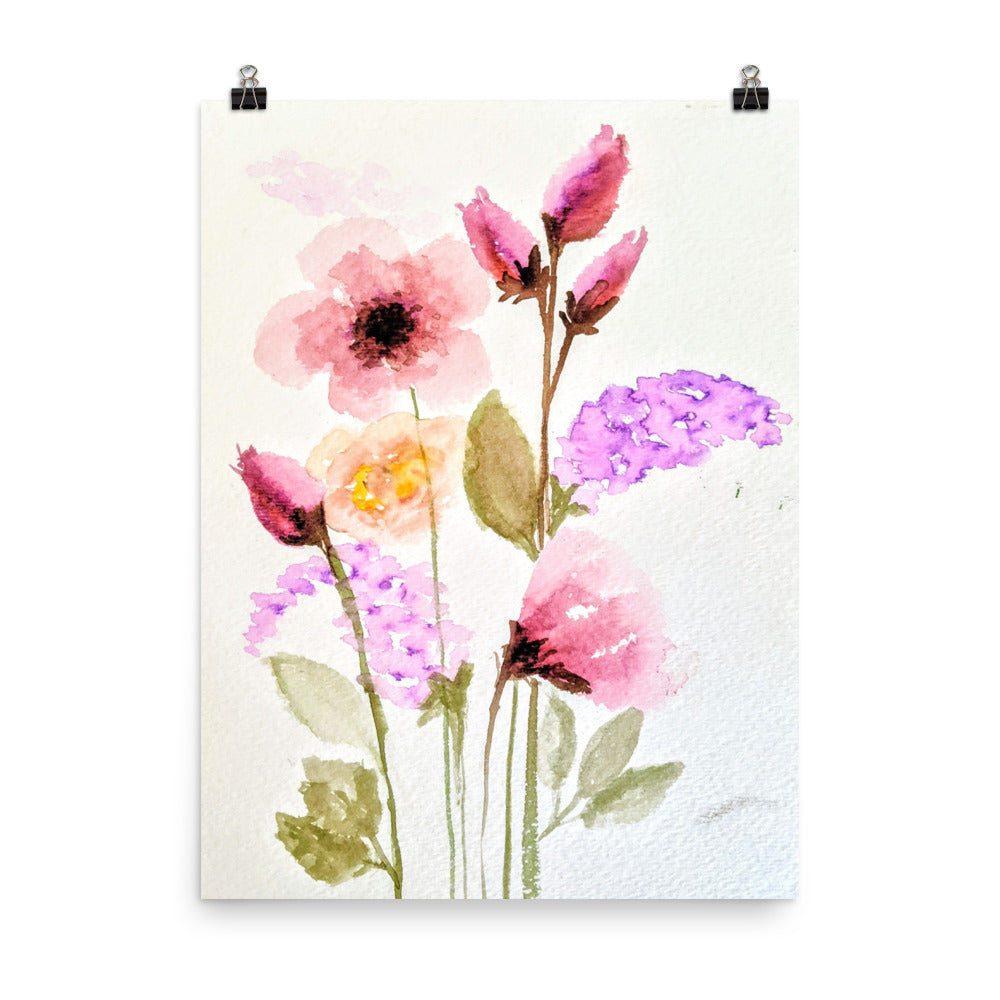 Simple Floral Bouquet Print