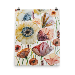 Wildflowers Watercolor Print