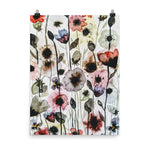 Anemone Tangle Watercolor Print