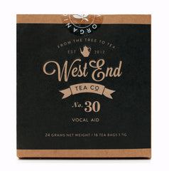 Pyramid Tea Bags - Blend No. 30 Vocal Aid Organic Pyramid Tea Bags