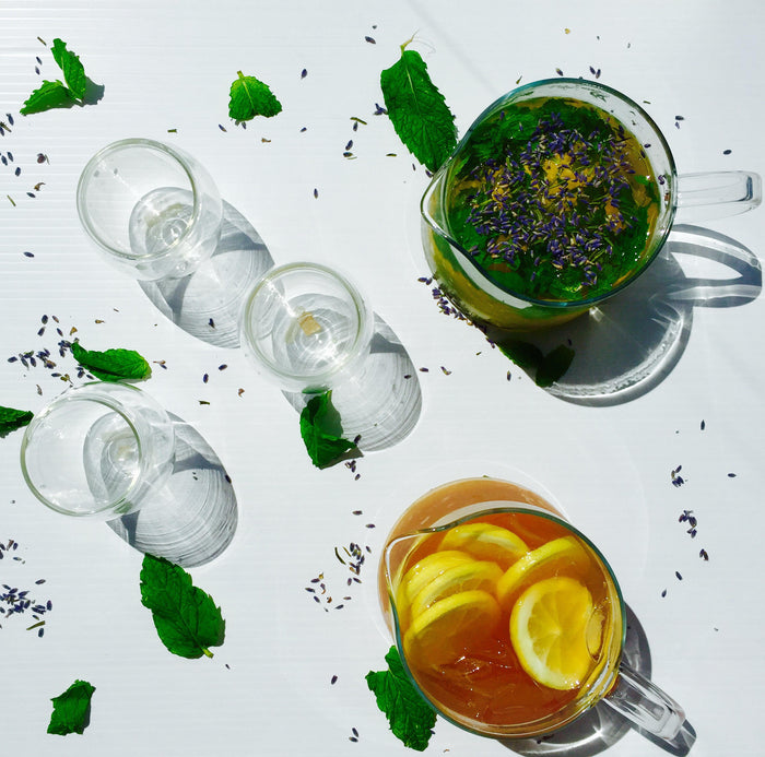 Refreshing, organic chilled teas