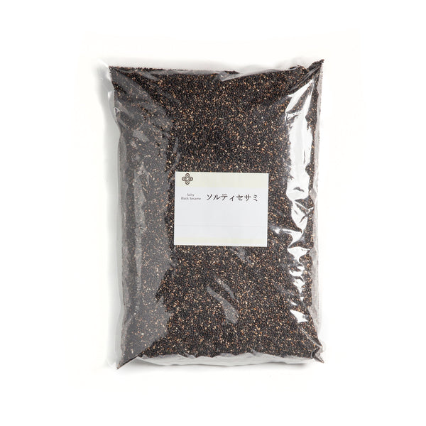 Roasted Salty Black Sesame Seeds - 1kg