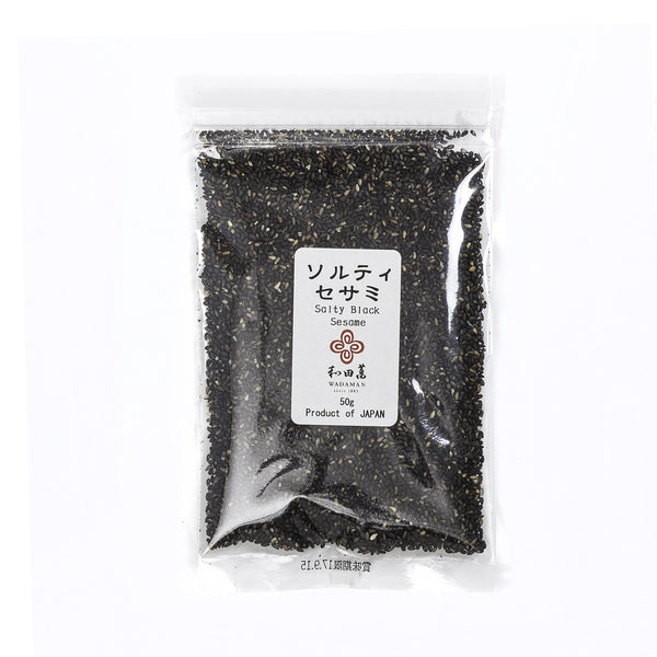 Roasted Salty Black Sesame Seeds - 50g