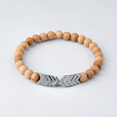 Sacred Arrow Wood Diffuser Bracelet