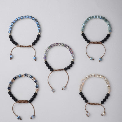 Glass Diffuser Bracelets (5 Pack)