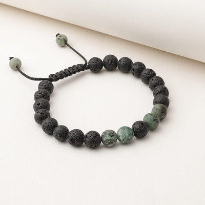 African Turquoise Adjustable Diffuser Bracelet
