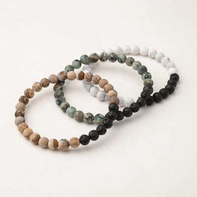 Diffuser Bracelet 3-Pack (Green/Brown)