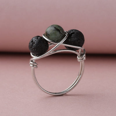 African Turquoise Diffuser Ring
