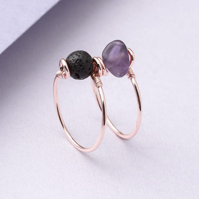 Amethyst Double Wrap Diffuser Ring