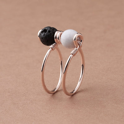 Double Wrap Howlite Diffuser Ring