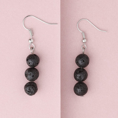 Lava Stone Diffuser Earrings